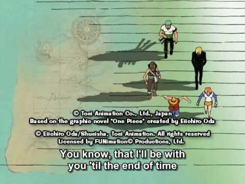One Piece ED 03 - Watashi ga iru yo (FUNimation English Dub, Unknown Singer, Subtitled)