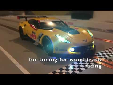 Carrera D124 Corvette C7R slot car tuning