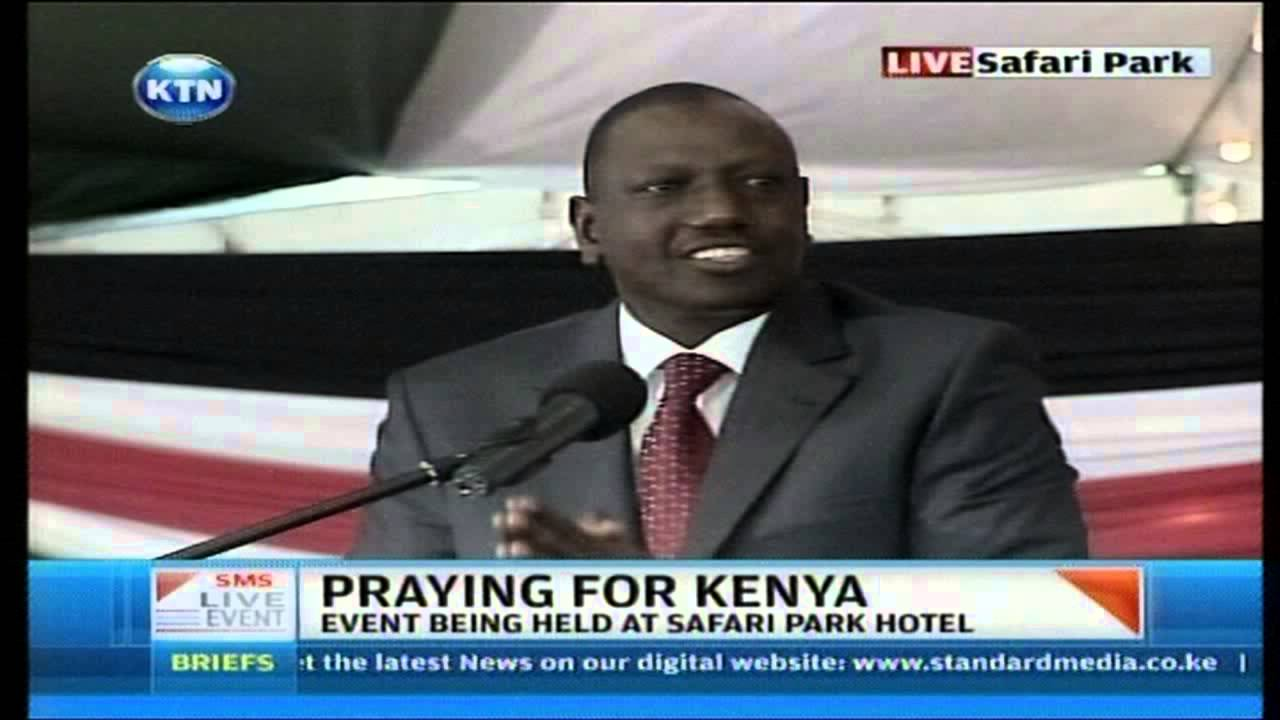 William Ruto's funny moments at National prayer day about Nyayo Office