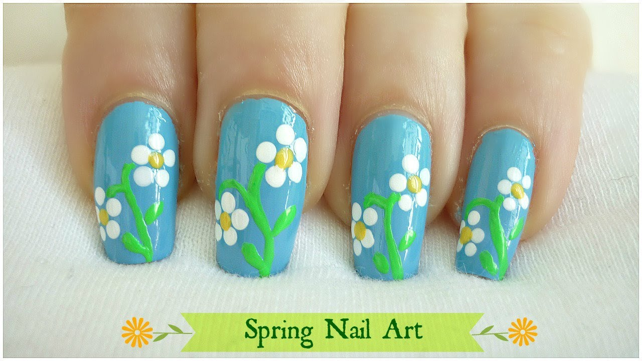- Easy Spring Nail Art! - YouTube