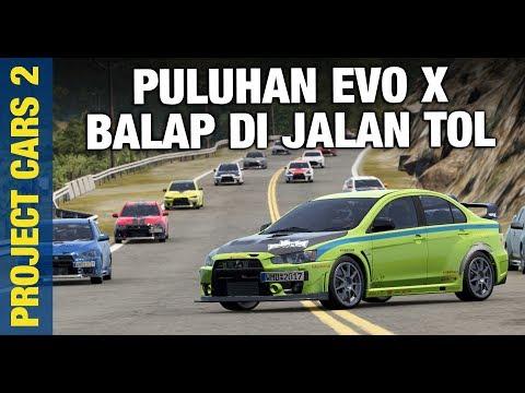 EVO X NGABUBURIT RIDE   Project Cars 2 Indonesia