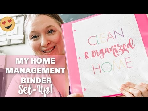 HOW TO SET UP A HOME MANAGEMENT BINDER!