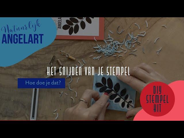 DIY STEMPEL KIT - Het snijden van je stempel