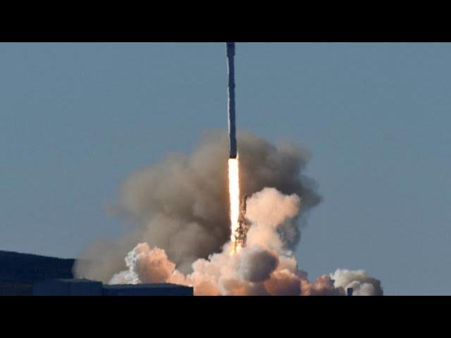 SpaceX успешно посадила ступень ракеты на морскую платформу
