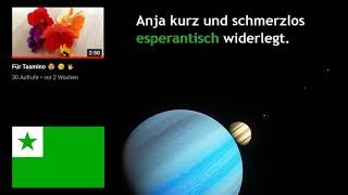 Wie spricht man dieses Gedicht richtig in Esperanto aus   @Terranja widerlegt !