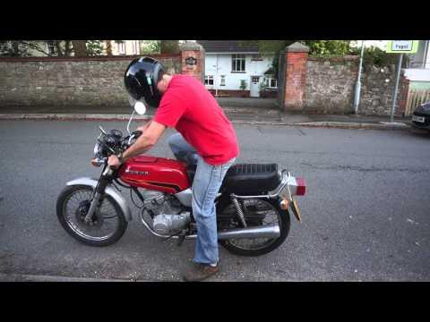 Honda CB125T 125cc Twin Test Run and Drive