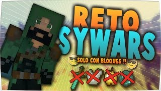 Reto SkyWars #9 | Solo con bloques! | 3 partidas |