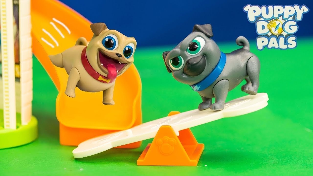 Puppy Dog Pals Rolly And Bingo Puppy Doghouse Toy Unboxing Youtube