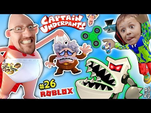 CAPTAIN UNDERPANTS useless FIDGET SPINNER! ROBLOX MOVIE ADVENTURE OBBY (FGTEEV vs POOPY TOILETS #26)