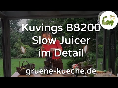 Kuvings B8200 Slow Juicer im Test - Entsafter ausführlich vorgestellt (Teile 1-7)