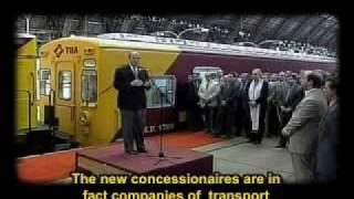 Ferrocarriles argentinos Alfonsin Menem2