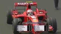 Kimi Räikkönen becoming World Champion Brazil 2007 Last Laps + Podium 🏆🥇