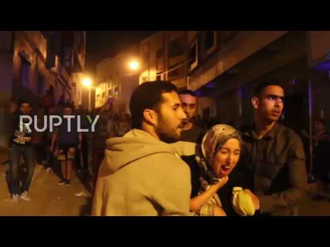 Morocco: Police scuffle with protesters calling for release of Rif protest leader Zafzafi