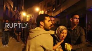 Morocco  Police scuffle with protesters calling for release of Rif protest leader Zafzafi