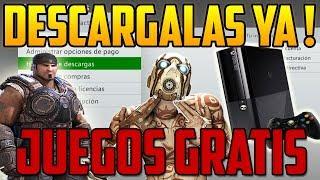 CUENTAS CON JUEGOS PARA TU XBOX 360 Y ONE  TOTALMENTE GRATIS !