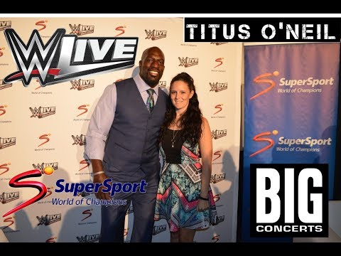 WWE Superstar Titus O'Neil South African Press Conference
