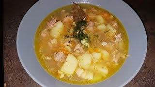 Картофельный суп с тушёнкой !!! Вкусный  Деревенский вариант !!!