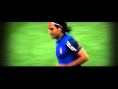 Radamel Falcao First Appearance after injury vs Valencia  Emirates Cup 02 08 2014  HD