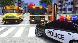 School Bus Billy, Fire Truck Go To Car Wash - Wheel City Heroes (WCH) Sergeant Lucas Police Cartoon