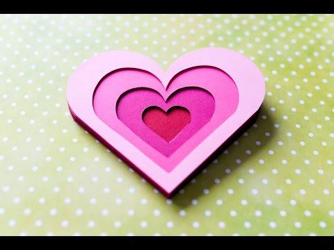 How to Make - 3D Greeting Card Valentine's Day Heart - Step by Step DIY   Kartka Walentynkowa