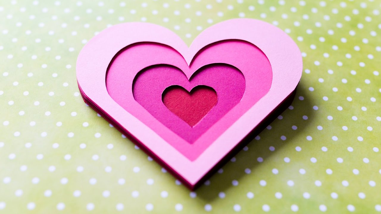 How to Make 3D Greeting Card Valentines Day Heart Step by – Greeting Cards of Valentine Day