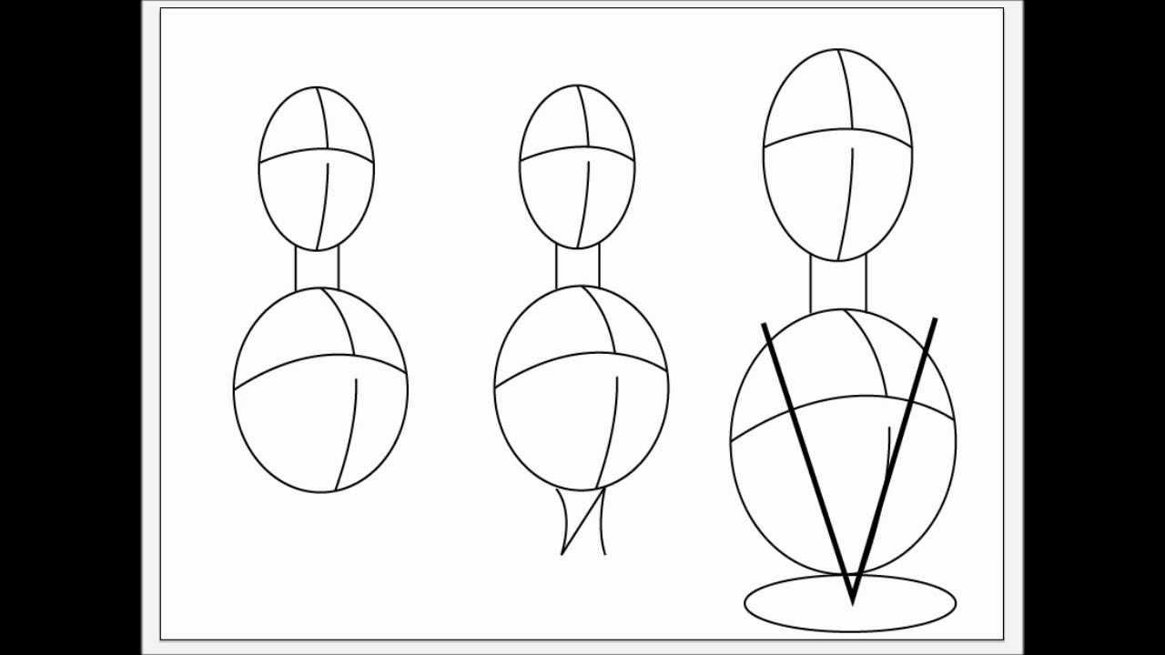 Dibujando Manga video tutorial 10 (torso masculino y femenino) - YouTube