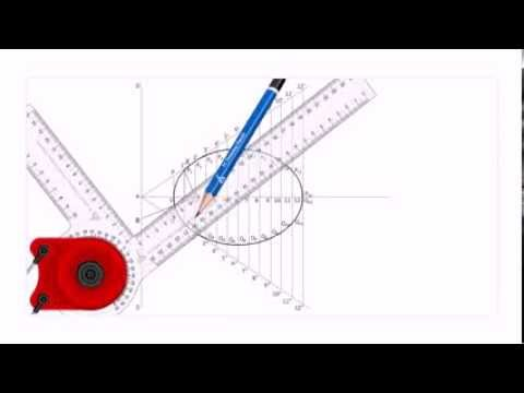 Construction of ellipse by eccentricity method - YouTube