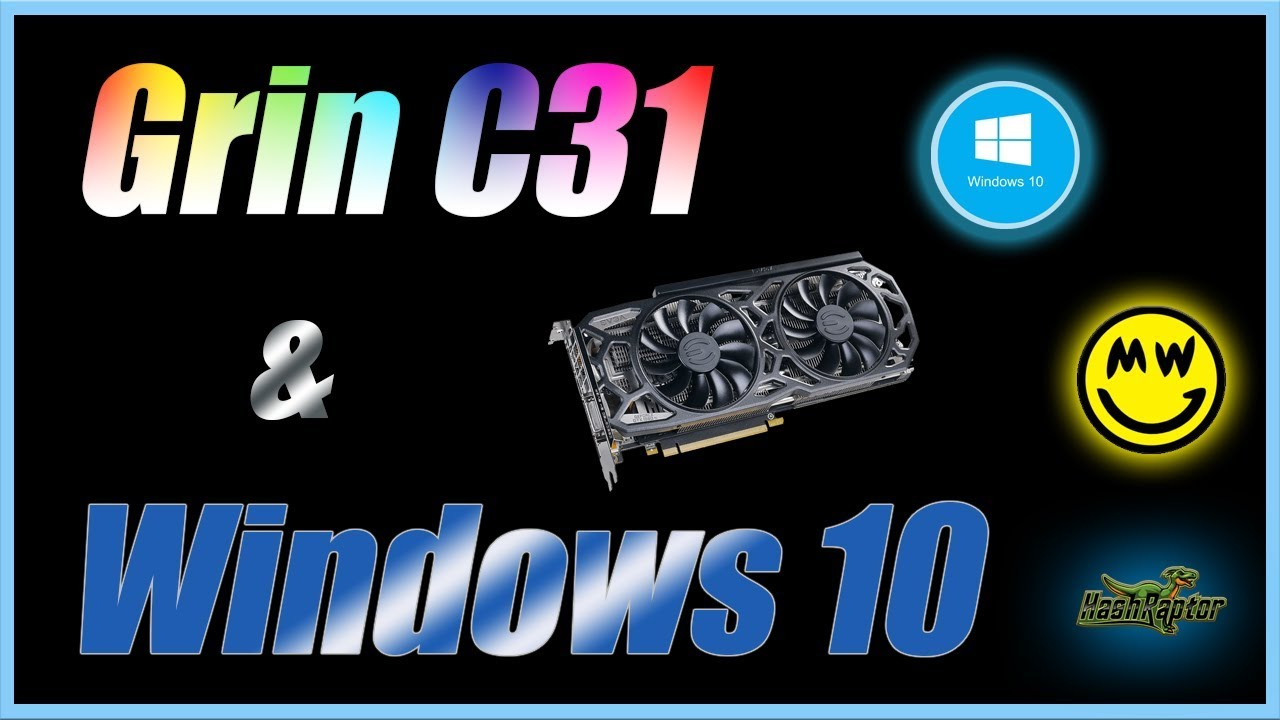 Mining Grin C31 on Windows 10 Finally Here !!! | MimbleWimble | bminer |  F2Pool