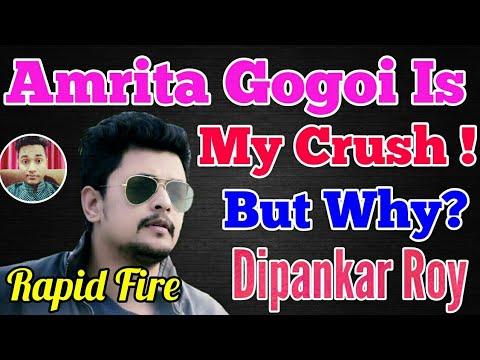 Amrita Gogoi ক মালা পিন্ধাবলৈ সাজু ?😀 Very funny & exciting Rapid interview fire With  Dipankar Roy