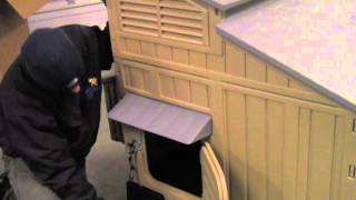 Snap Lock Large Plastic Chicken Coop Video (15 Birds)