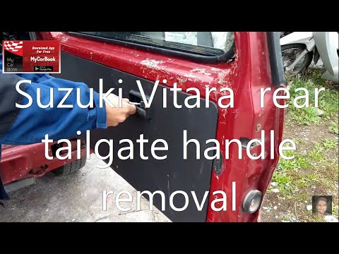 Suzuki Vitara  Rear Tailgate Handle Removal