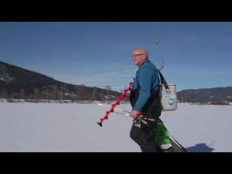 Ice fishing Norway - region Gjovik - with Russian TV. Part 1 of 2
