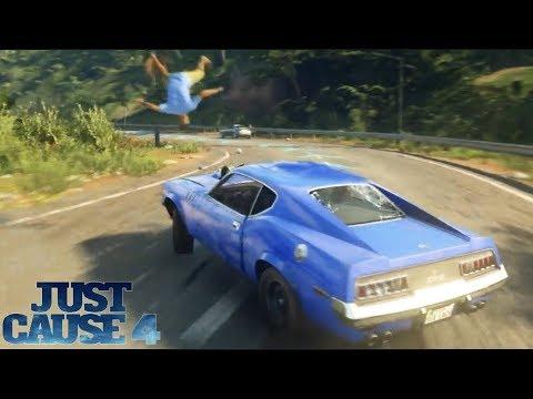 Just Cause 4 PC - 1970 Ford Mustang Boss - Testing Physics (Max Settings) | SLAPTrain