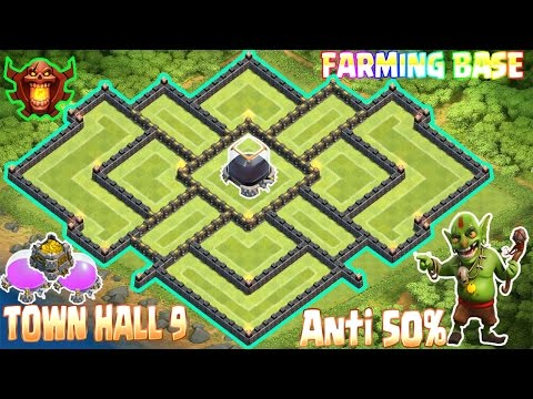 Coc Th9 farming base 2017. Town Hall 9 Best Defense Strategy Clash Of Clans New Update
