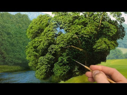 How to paint tree details   Oil painting  episode 136