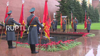 LIVE  Ceremony marking 50th anniversary of Eternal Flame takes place in Moscow