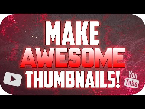 How To Make a Thumbnail for YouTube with Photoshop CS6/CC! (2016/2017)