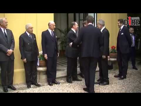 Official Visit of the President of Austria received by the Lieutenant of the Grand Master