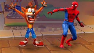 WHO IS BETTER? CRASH BANDICOOT VS SPIDER-MAN?