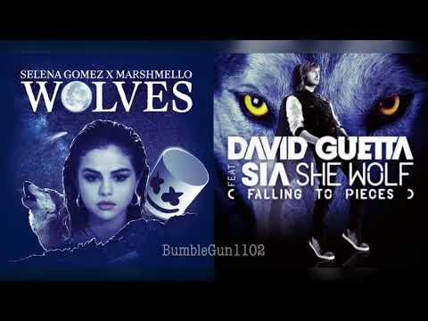 Selena Gomez ft. Marshmello, David Guetta ft. Sia - She Wolves/Wolves x She Wolf (mashup)