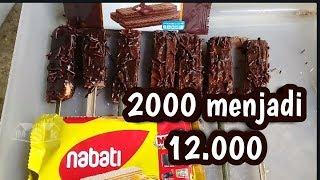 Usaha kecil sukses | modal 2000 jadi 12000, usaha wafer coklat untung besar