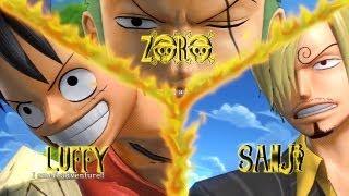 One Piece: Pirate Warriors | New World Luffy, Zoro & Sanji Vs 1000