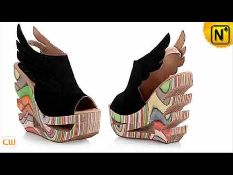 2012 Ladies' Leather Wedge Shoes, Cool Fashion Platform Wedges ...