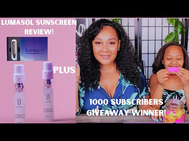 LUMASOL SUNSCREEN REVIEW!!!*PLUS 1000 SUBSCRIBERS GIVEAWAY WINNER ANNOUNCED!!!!