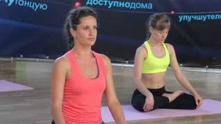 Fitness.55 Minute Full Body Stretching Routine for Flexibility _ trainer Ekaterina Firsova (HD)