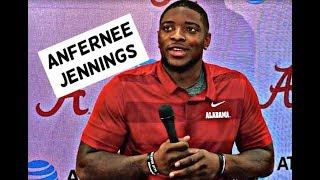 Anfernee Jennings speaks to media