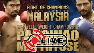 PACQUIAO VS MATTHYSSE LIVE STREAMING CHANNELS