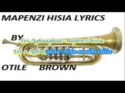 MAPENZI HISIA LYRIC VIDEO BY OTILE BROWN