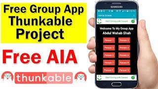 How To Create Simple Group Auto Impression App In Thunkable With Auto Impression Counter | Free AIA