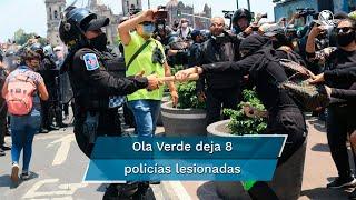 La Comisión de Derechos Humanos y otros mecanismos de defensa acompañaron la movilización Ola Verde por Veracruz, convocada por varias organizaciones feministas